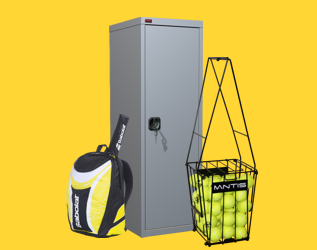 Rent a lockers for sports equipment.